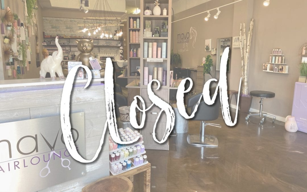 MAVO HAIRLOUNGE CURRENTLY CLOSED DUE COVID19